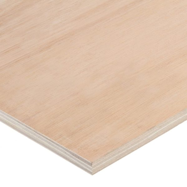 12mm Chinese Hardwood Face Poplar Core External Grade Plywood B/BB CE2+ 3050mm x 1220mm (10' x 4')