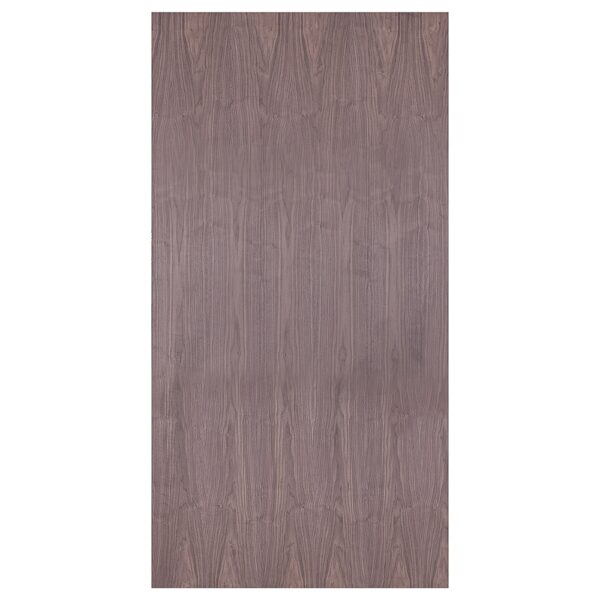 19mm Black Walnut Veneered MDF 2 Sides Crown Cut 2440mm x 1220mm (8' x 4')