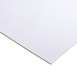 3mm One-sided White Painted MDF 2440mm x 1220mm (8′ x 4′)