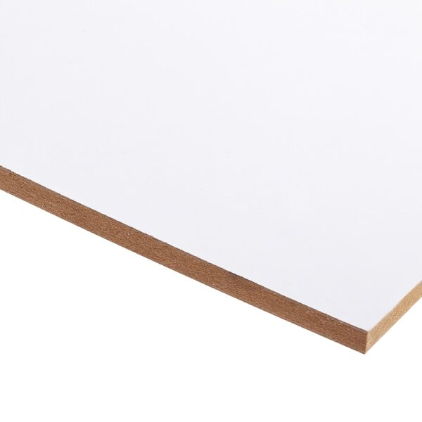 15mm Double-sided White Melamine Faced MDF 2440mm x 1220mm (8′ x 4′)