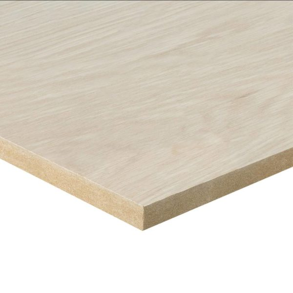 10mm Oak Veneered MDF 2 Sides Crown Cut 2440mm x 1220mm (8' x 4')