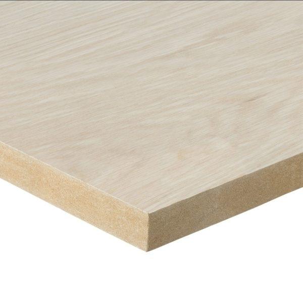 26mm Oak Veneered MDF 2 Sides Crown Cut 2440mm x 1220mm (8' x 4')