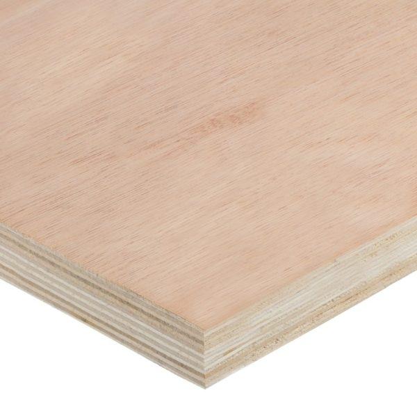 25mm Chinese Hardwood Face Poplar Core External Grade Plywood B/BB CE2+ 3050mm x 1220mm (10' x 4')