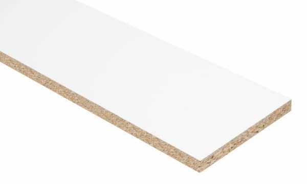 18mm Double-sided White Melamine Faced Chipboard Shelving 2400mm x 1200mm (8' x 4')