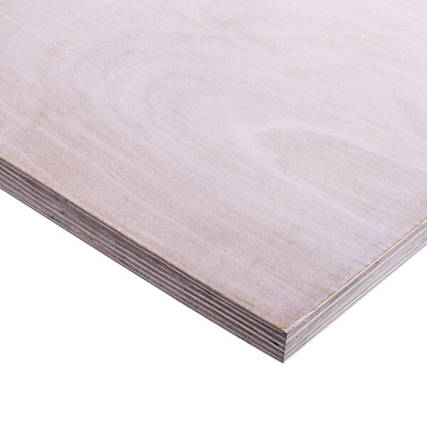 12mm Chinese Hardwood Jade 72 External Grade Plywood B/BB CE2+ 2440mm x 1220mm (8′ x 4′)